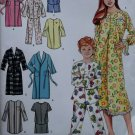 Girl & Boy gown, Nightshirt, Pajamas 2 lengths & Robe Simplicity 4388 Pattern, Sz 7 To 14, Uncut
