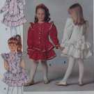OOP Easy Butterick 5196 Girls Dress and Headband, Size 5 6 6x, Uncut