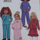 OOP Butterick 3674 Easy Childs Girls' Top, Skirt and Pants Pattern, Size 2 3 4 5, Uncut