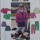 Easy Simplicity 8307 Pattern,  Girls Jacket Skirt Pants & Knit Top, Sz 5 6 7 8, Uncut
