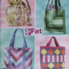 Butterick B4248 Sewing Pattern Fat Quarter Bags for four bags, Uncut