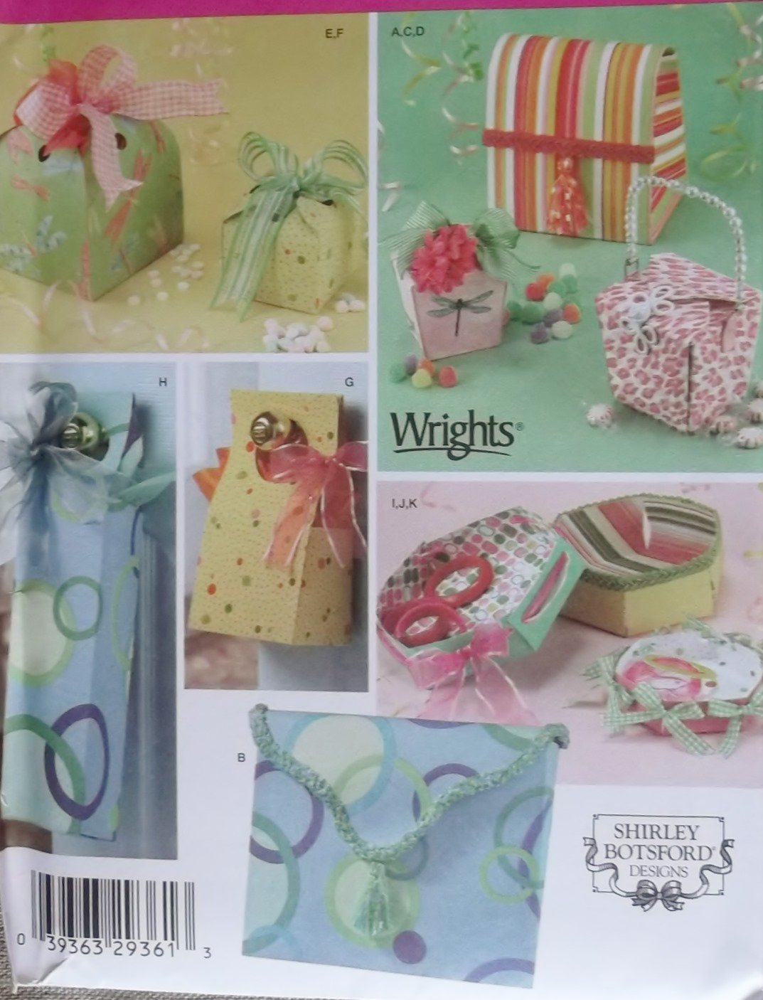 Simplicity 4320 Sewing Pattern Shirley Botsford Designs Fabric Gift Boxes, Uncut
