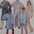 Mccalls 3979 Misses, Men, Teen Robe Nightshirt Pajamas Pattern, Size Med, UNCUT