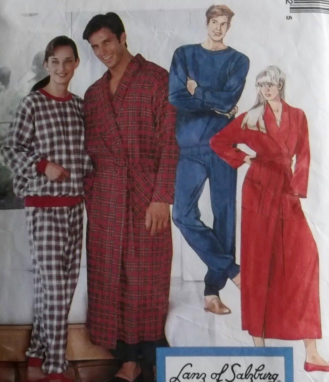 Unisex Robe & Pajamas McCalls 7428 Pattern, Plus Size XL, XXL Uncut