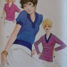 OOP Kwik Sew 535 Pattern, Misses pullover tops in 3 versions, Sz 14 16 18 20, Uncut