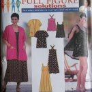 Simplicity 7672 Ladies Bathing Dress, Jacket & Shorts, Pattern, Plus Size 18W to 24W, Uncut