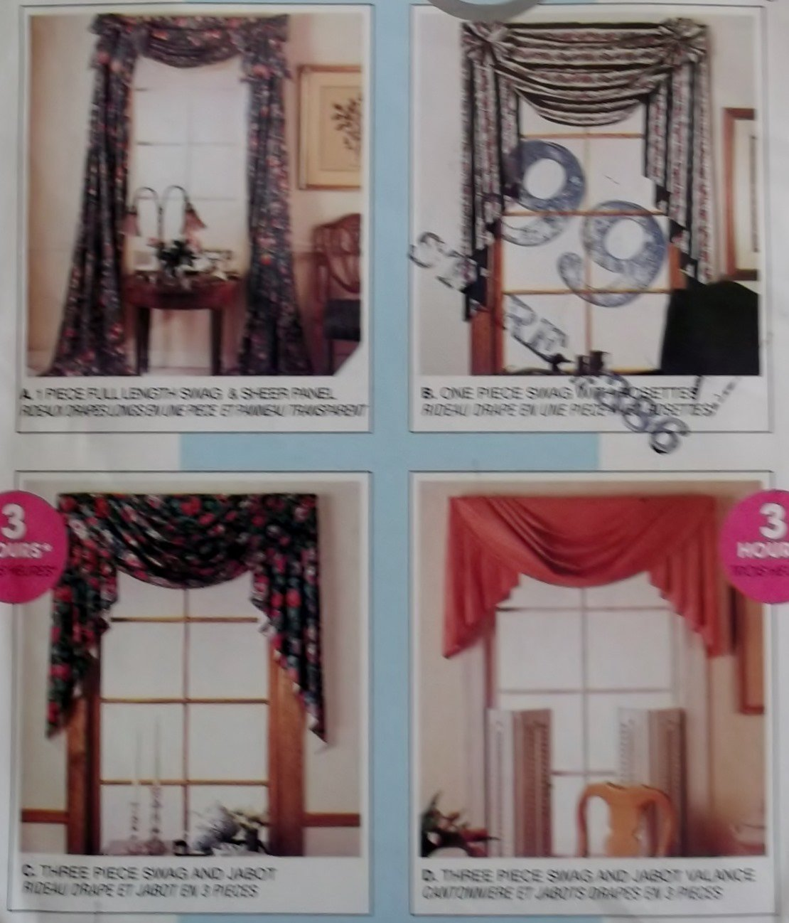 Home Dec in a sec, Swags, Panel and Valance McCalls 781 Patterns, Uncut