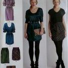 Cynthia Rowley Dress, Skirt & Purse Simplicity 2305 Pattern Plus Sizes 12 14 16 18 20,  Uncut