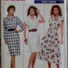 Easy Misses'  Button front Dress Butterick 6083 Pattern, Size 6 8 10, Uncut