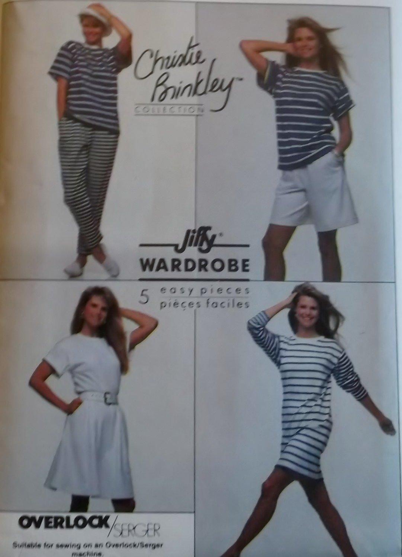 Misses' Dress, Top, Pants, Shorts and Skirt Simplicity 9112 Pattern Plus Size XL, UNCUT