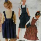 Vintage Learn to Sew McCalls 2620 Girls Skirt, Straps & Bibs Pattern, Size 7, Uncut