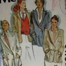 McCall's 6475 Misses set of lined Blazers Pattern, Size 10, UNCUT