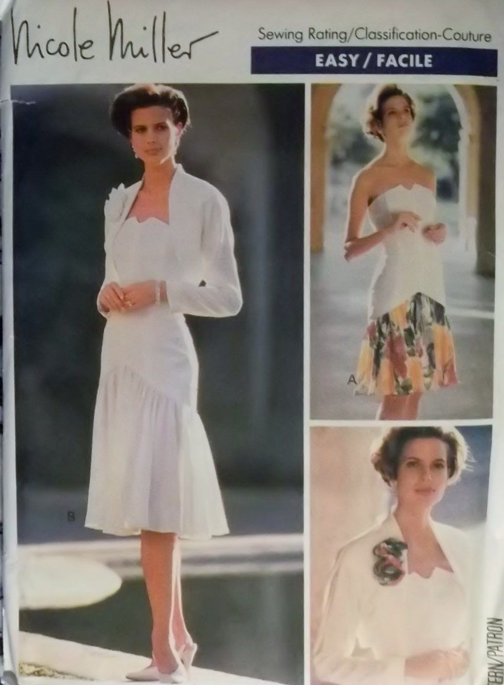 Easy Misses' Jacket and Dress Butterick 3931 Pattern, Size 6 8 10, Uncut