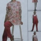 McCalls 8654 Misses' Maternity Tunic Jumpsuit Pants Pattern, Sz 10, 12, 14, Uncut