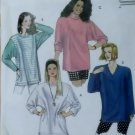 McCalls 6076 Misses oversized Tunics Pattern, Size 14 16, Uncut
