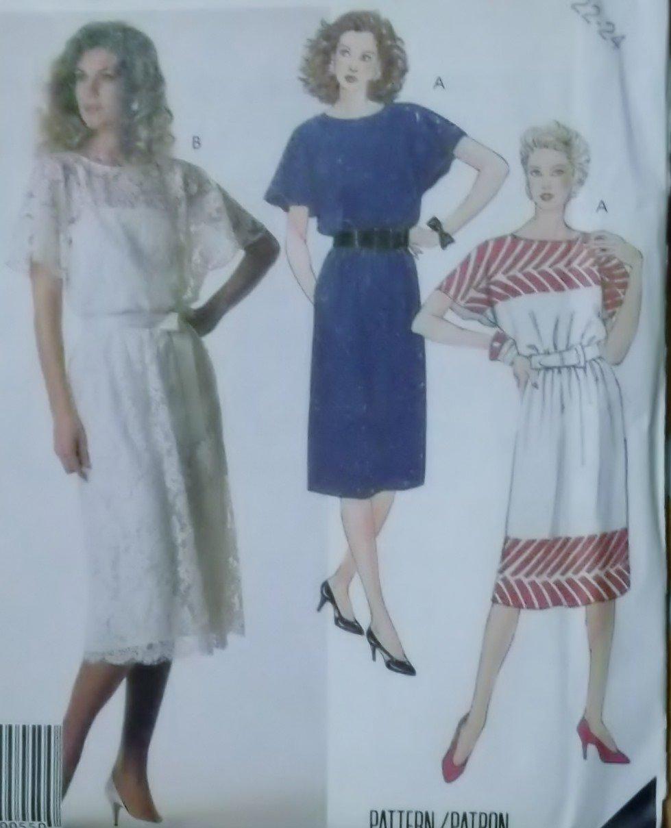 Easy Misses� Dress and Slip McCalls 3053 Pattern, Plus Size 22 24, Uncut