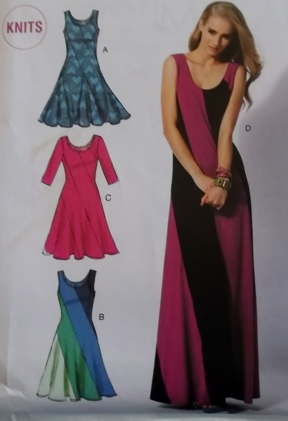 Misses Dresses fitted, flare skirt McCalls M 6697 Pattern, Size 6 To 14, Uncut
