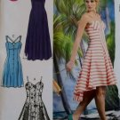 Easy Misses Dresses fitted, flare skirt McCalls M 6740 Pattern, Plus Size 12 To 20, Uncut