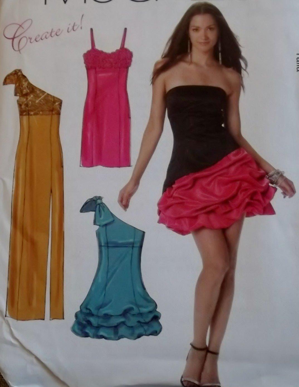 Create it!  Misses Dresses Gowns McCalls M 6740 Pattern, Plus Size 12 To 20, Uncut