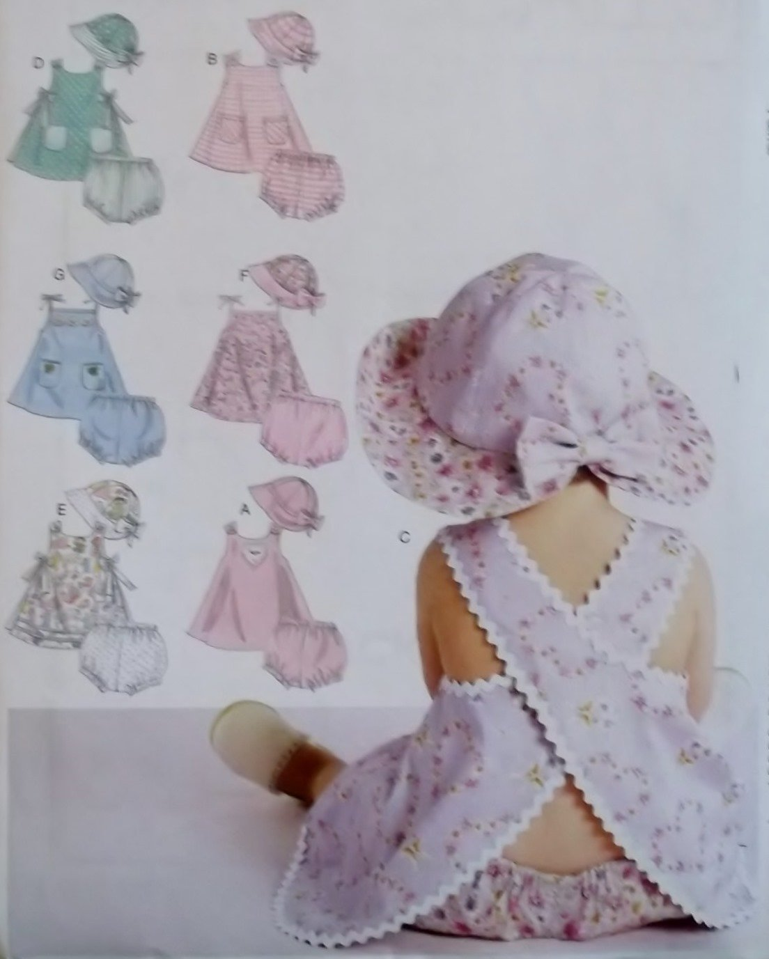 McCalls M 6303,  Infants Dress Panties Hat Pattern, Size S to XL, UNCUT