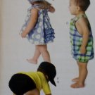McCalls M 6309, Infants' Dress, Panties, Romper, Diaper Cover & Hats Pattern, Size S to XL, UNCUT