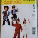 Easy Kid's Indian cowboy Costume, McCalls MP 318 or M 2851 Pattern, Size 7-8, Uncut