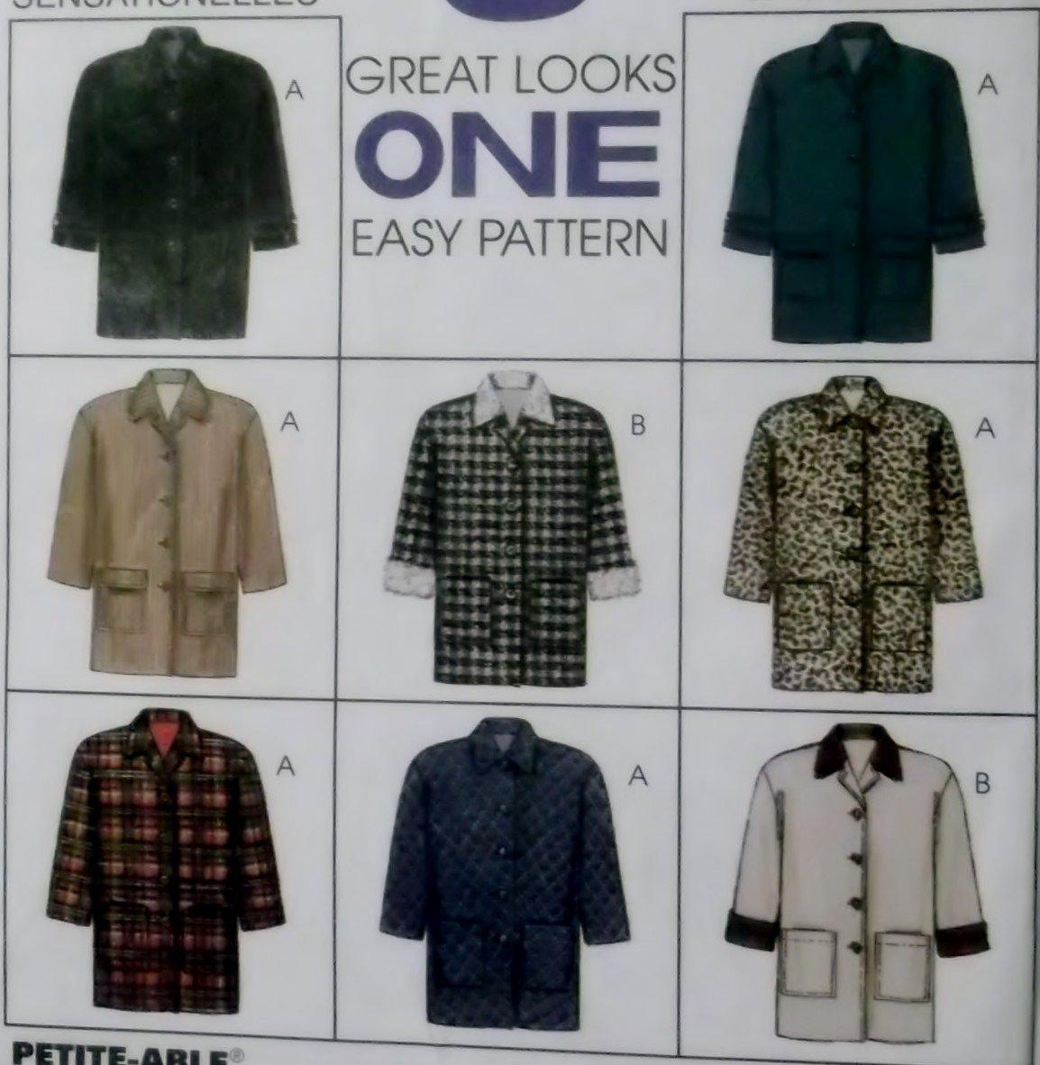 Misses Lined Jacket McCalls 8522 Pattern, Size Ex Sm 4/6, UNCUT