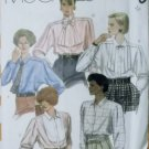 McCalls 2070 Pattern, Misses Blouses and Tie, Size 12, UNCUT
