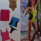Misses' Swimsuits and Cover-Up McCalls M 6759 Pattern, Size 6 To 14, Uncut