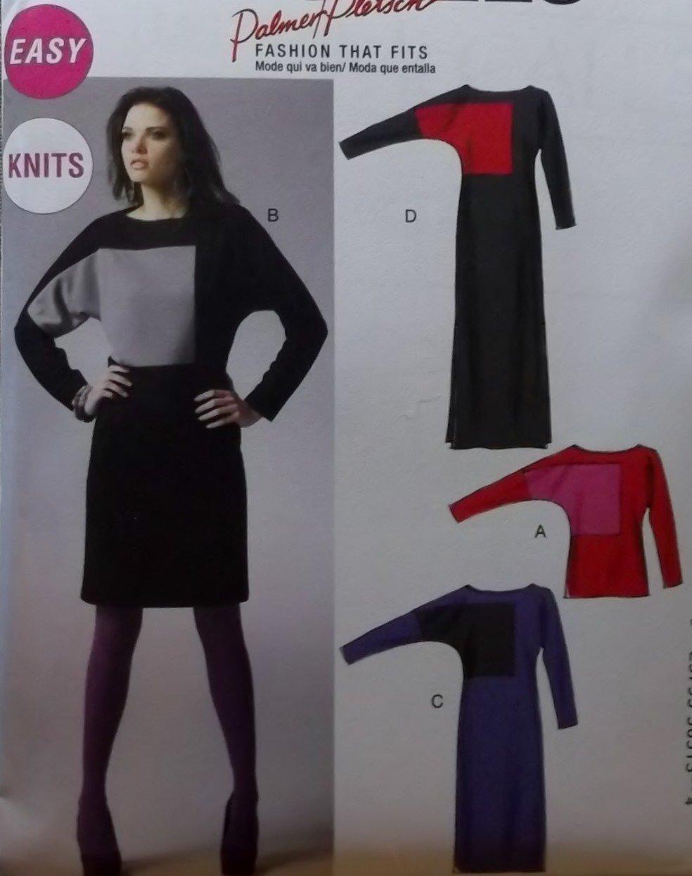 Easy McCalls M 6792 Pattern, Palmer Pletsch Misses' Top & Dress, Plus Size 16 18 20 22 24, UNCUT