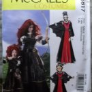 McCalls M 6817 Misses Medieval Scottish Princess Costumes, Plus Size Sm to Xlg, Uncut