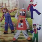 McCalls M 6814 Child's Costumes Robot, Scarecrow, Clown, Conductor Pattern, Size 2 3 4 5, Uncut