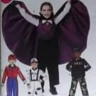 McCalls M 6417 Child's, Boy's Vampire, Swat, Space, Race Driver Costumes Pattern, Size 3 to 8, Uncut
