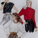 Vintage Misses Blouse Vogue 7415 Patterns, Sizes 12, 14, 16, UNCUT