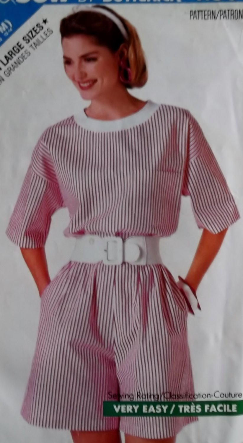 McCalls 4180 Pattern Misses' Top & Shorts, Sizes 6, 8/10, 12/14, UNCUT