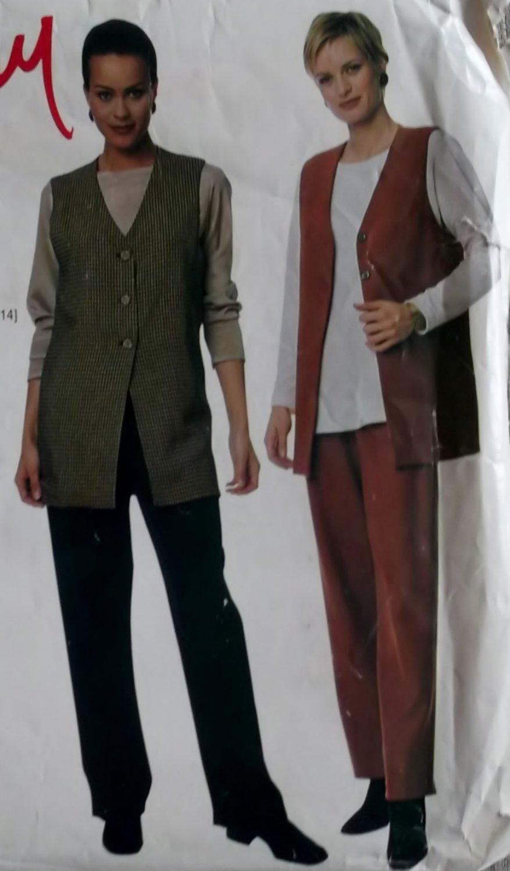 Easy McCalls 9432 Patterns Misses' Vest, Top & Pants, Sizes 8, 10, 12, 14, UNCUT