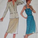 Vintage Butterick 3383 Misses jacket, dress and belt Pattern, Size 16, UNCUT