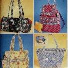 McCalls 4118,  Misses Handbags Pattern, One Size, UNCUT
