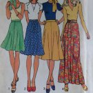 Vintage 1974 Simplicity 6746 Misses' bias skirt in four lengths & tie Pattern, Sz 18, Uncut