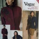 Easy Misses Jacket, Top, Skirt &  Pants Vogue 2518 Sewing Pattern, Size 6 8 10, UNCUT