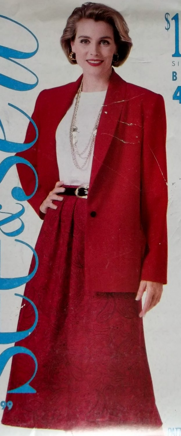 Butterick 4444 Pattern, Misses Jacket, Top & Skirt, Plus Sizes 16, 18, 20, 22, 24,  UNCUT