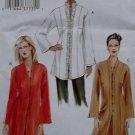 Easy Misses' or Petite Tunic Vogue V 7854 Patterns, Size 20 22 24, Uncut