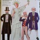 McCalls 3813 Patriotic Costumes Pattern Sz 40 42 Lrg, Uncut