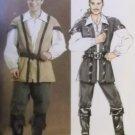 Butterick B4574 Mens Robin Hood, Pirate Costume  Pattern, Size XM Sm Md Lg, Uncut