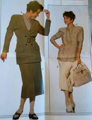 Burda 4141 Sewing Pattern Misses Blazer Skirt,  Plus Size  12 14 16 18 20 22, Uncut