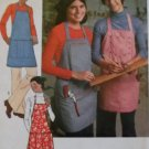Easy Simplicity 7254 Pattern Unisex Apron in 2 lengths, One Size, Uncut