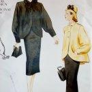 1947 Style Misses Jacket Skirt Vogue 2444 Pattern, Plus Size 18 20 22, Uncut