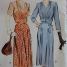 1943 Style Misses Dress & Belt Vogue 2444 Pattern, Plus Size 18 20 22, Uncut