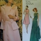 Vintage Teal Traina Jacket & Dress Vogue 1185 Sewing Pattern, Half Size 18 1/2  Bust 40, Uncut FF