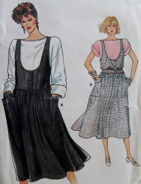 Easy Misses Jumper & Top Vogue 8978 Sewing Pattern, Size 6 8 10, UNCUT